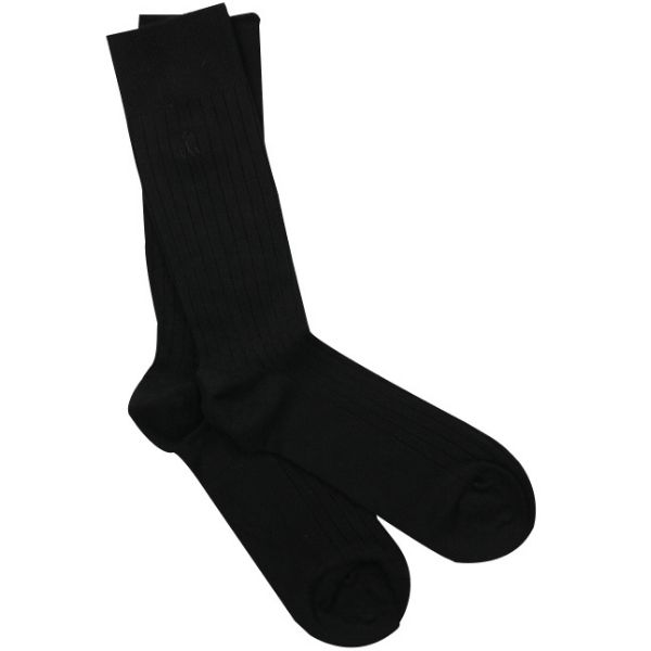 Swole Panda Socks Swole Panda Jet Black Ribbed Bamboo Socks
