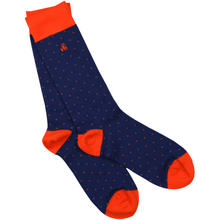 Load image into Gallery viewer, Swole Panda Socks Swole Panda Orange Spotted Bamboo Socks