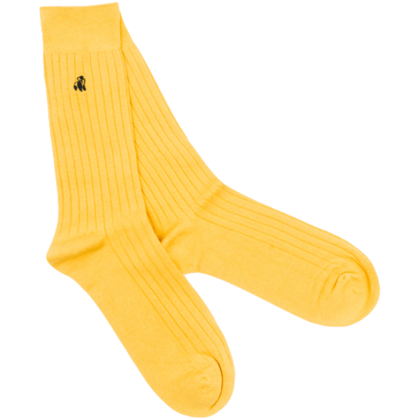 Swole Panda Socks Swole Panda Yellow Ribbed Bamboo Socks