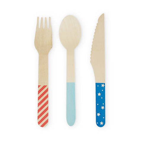 Assorted Stars & Stripes Flatware