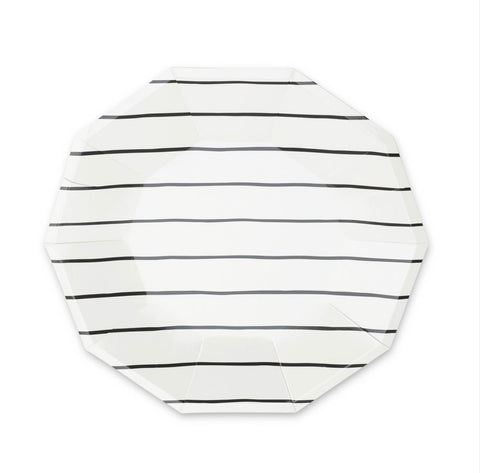 Frenchie Striped Large Plate Ink