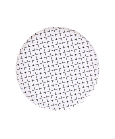 Black and White Grid Large Plates
