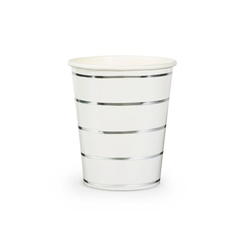 Frenchie Metallic Striped Cups