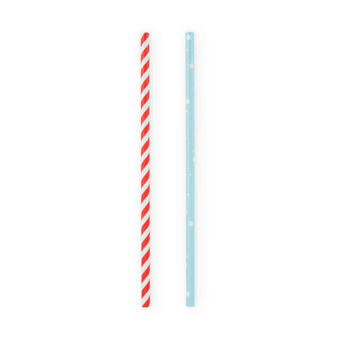Assorted Stars and Stripes Straws
