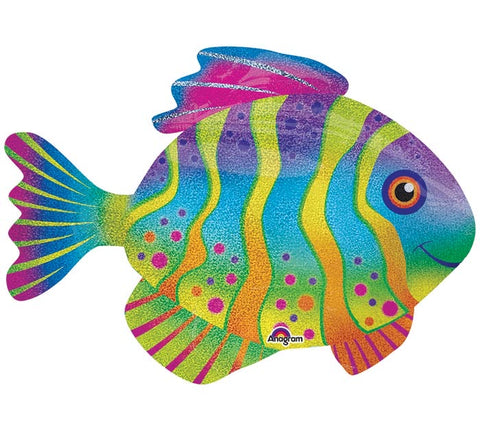 "33"" PKG COLORFUL FISH BALLOON"