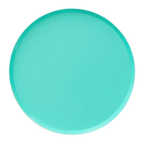 Teal Large Round Plates