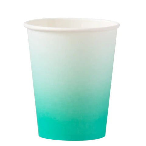 Teal Ombré 8oz Cups