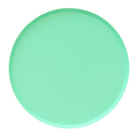 Mint Large Round Plates