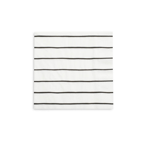 Frenchie Striped Large Napkins Ink