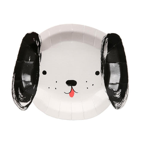 Black and White Dog Plates