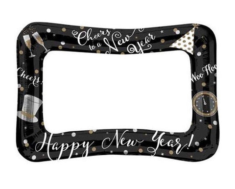 23 Inch New Year Air-Fill Selfie Frame Balloon