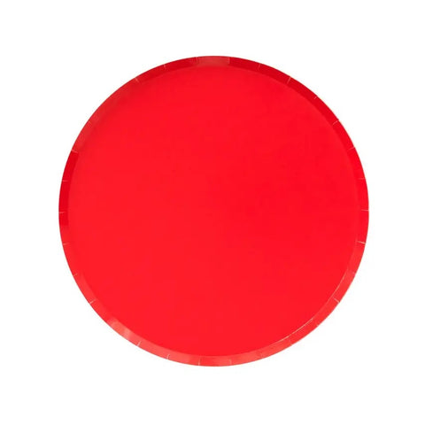 Red Small Round Plates
