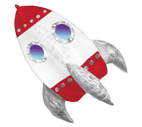 "29"" PKG ROCKET SHIP SHAPE BALLOON"
