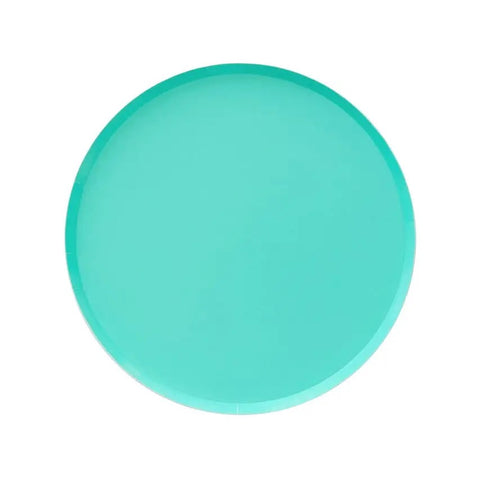 Teal Small Round Plates
