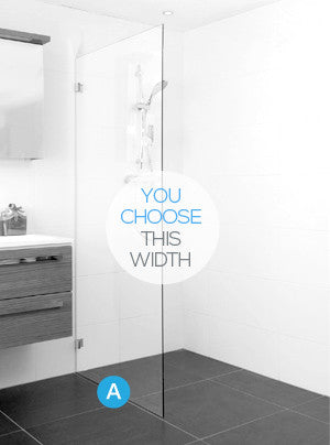 Frameless Glass Single Fixed Panel Shower Screen Package