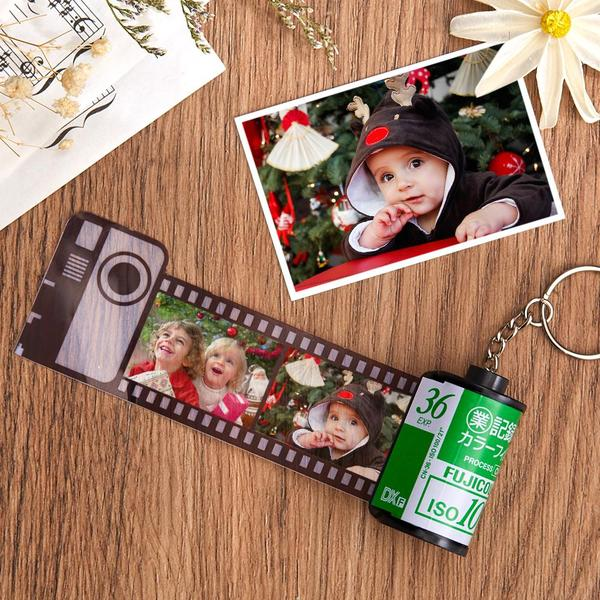 Custom Fuji Camera Roll Keychain Multiphoto Gifts - Baby