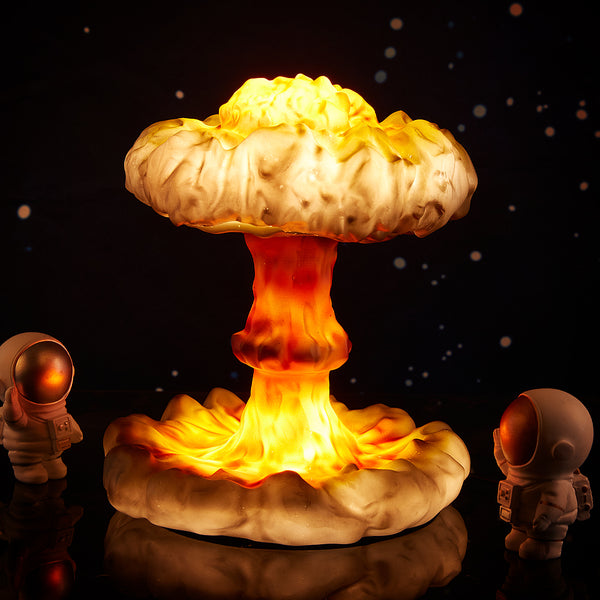 Nuclear Explosion Mushroom Cloud Model Lamp Home Art Table Lamp