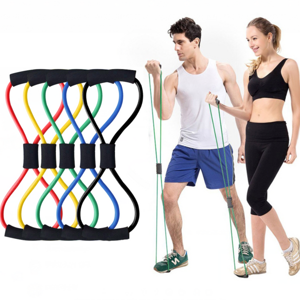 Slimming Artifact - 8-shaped Rally Yoga Fitness Rope Exercise Muscle Band Exercise Dilator Elastic