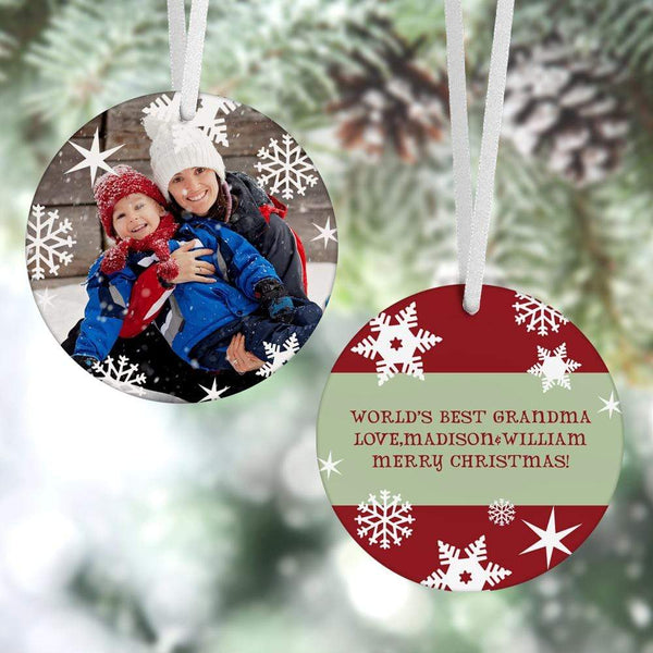 Custom Christmas Ornament Christmas Gifts 2 Sided - Snowflake(8cm x 8cm)