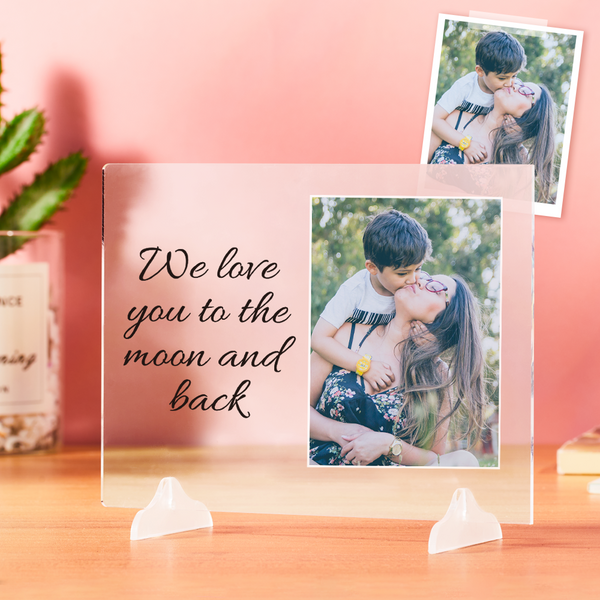 Custom Acrylic Plaque Custom your Photo Personalized Acrylic Plaque For Mom