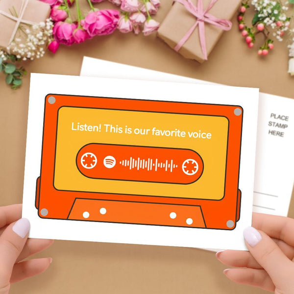 Custom Spotify Cards Card Personalized Scannable Spotify Card with Your Photo Gift