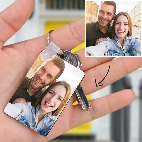 Custom Rectangular Photo Keyring