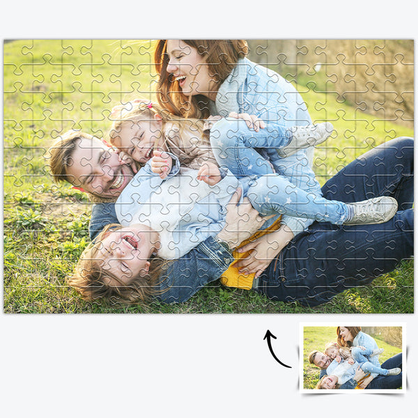 Custom Happy Photo Jigsaw Puzzle - 35/150/300/500/1000 Pieces