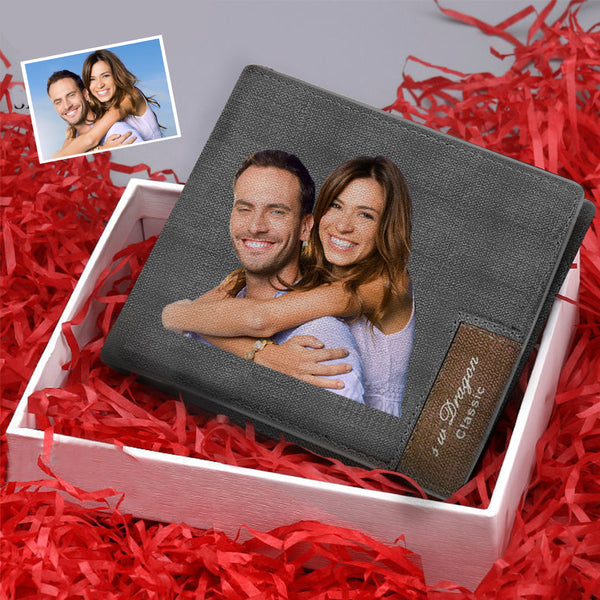 Christmas Gifts - Custom Biffold Short Color Photo Wallet