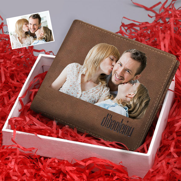 Christmas Gifts - Custom Color Photo Wallet
