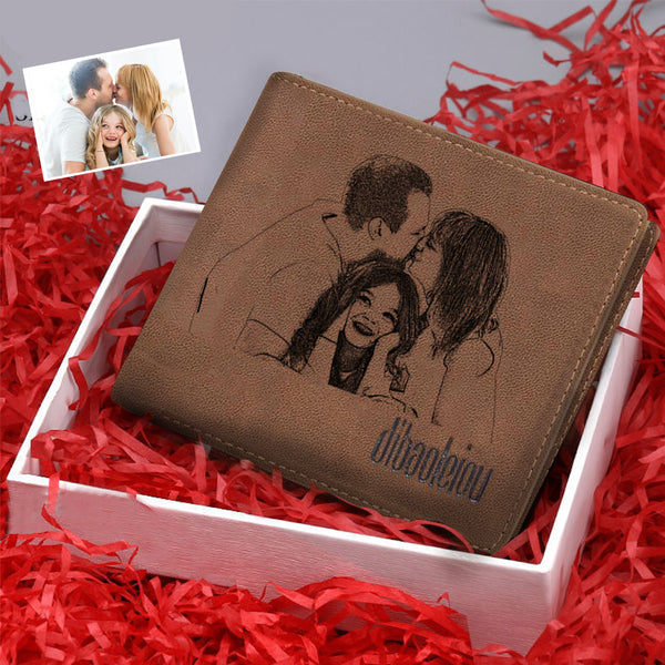 Christmas Gifts - Custom Sketch Photo Wallet