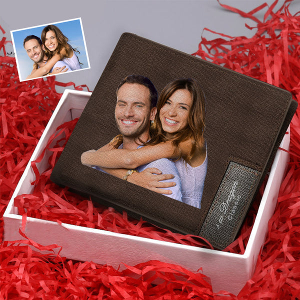 Christmas Gifts - Custom Short Color Photo Wallet