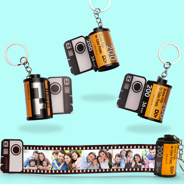 Custom Colorful Camera Roll Keyring - Family