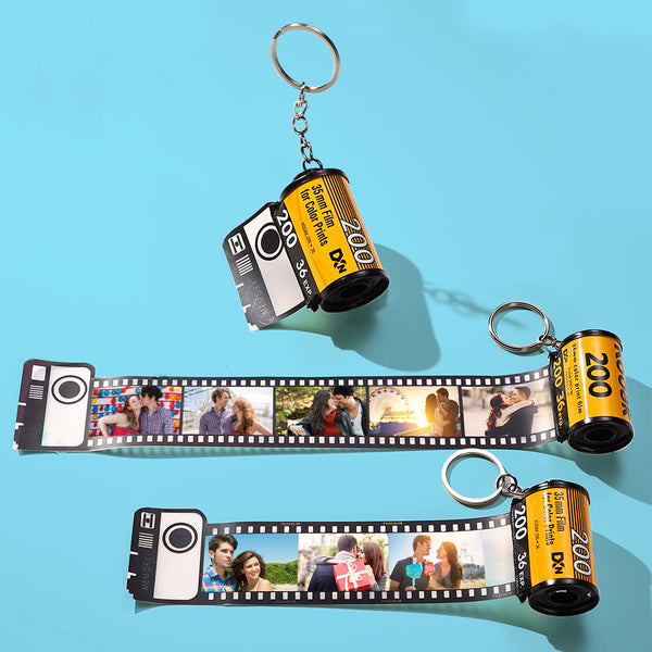 Custom Colorful Camera Roll Keyring - Lover