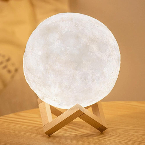 3D Printing Moon Lamp Rechargeable Touch/Tap/Remote Control