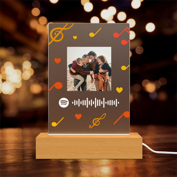 Custom Led Light Music Spotify Engraving Night Light Personalised Gift