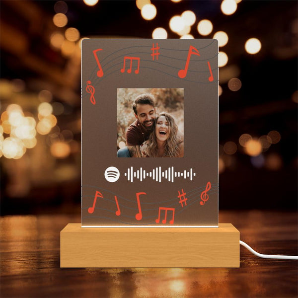 Custom Spotify Lamp with Photo Custom Album Gift Night light Personalised Gift