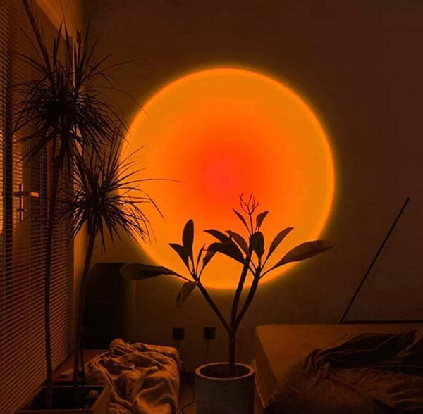 Sunset Lamp Projector Red Sunset (Orange and Red) Ambient Sunset Lamp Decor For Bedroom Rainbow Projection Lamp