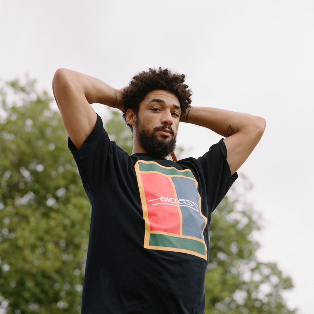 ENDLESS - COURT TEE BLACK