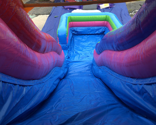 18'H Fun House Slide Wet n Dry