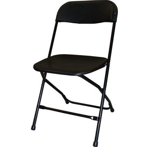 Steel/Poly Folding Chair - Black