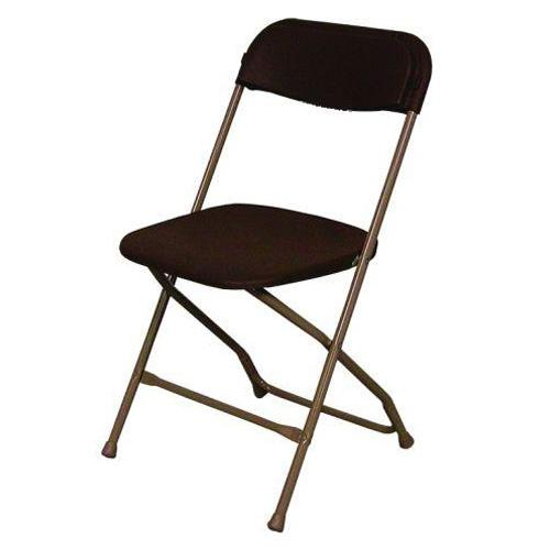Steel/Poly Folding Chair - Brown