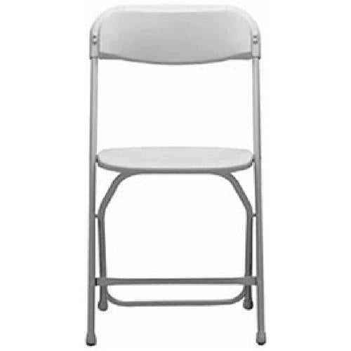 Steel/Poly Folding Chair - Bright White