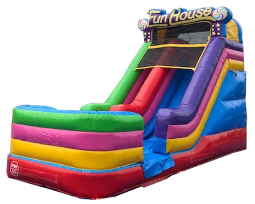 17'H Happy Fun House Slide Wet n Dry