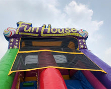 Load image into Gallery viewer, 17'H Happy Fun House Slide Wet n Dry