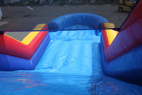 12'H Dual Lane Slide With Pool