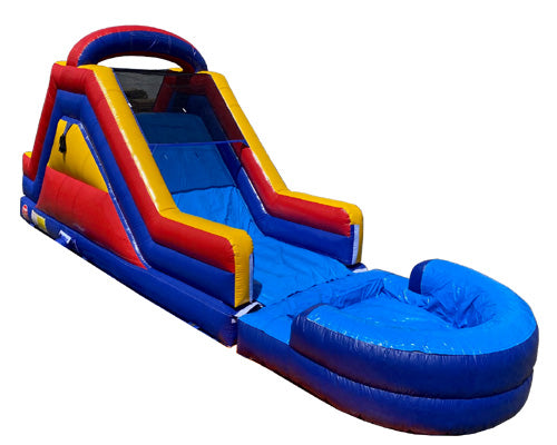 12'H Dual Lane Slide With Removable Pool