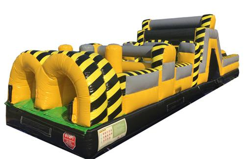 85'L Toxic Obstacle Course with Removable Pool