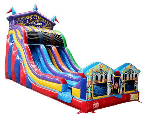 22'H 2-Lane Carnival Super Slide W n D