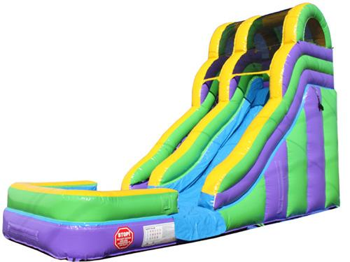 18'H Double Dip Slide Wet n Dry (Green)