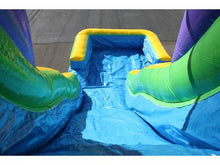 Load image into Gallery viewer, 18'H Double Dip Slide Wet n Dry (Green)